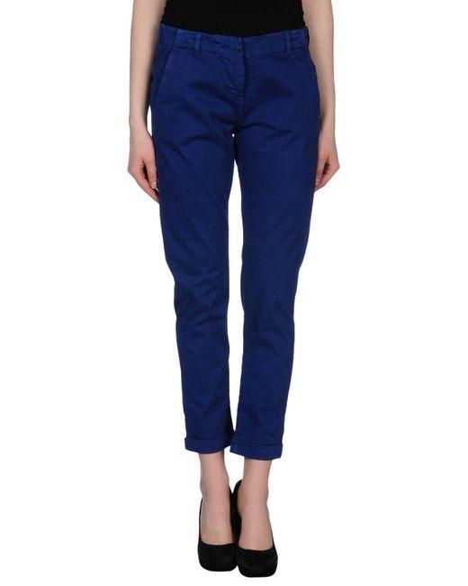 GAUDI | Blue Casual Trouser | Lyst