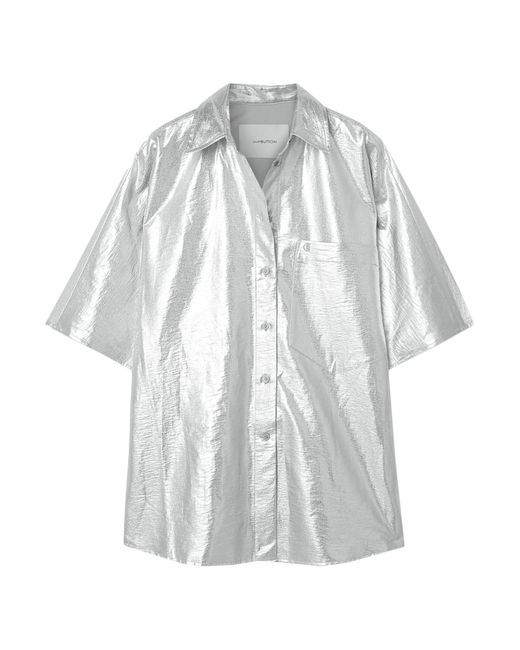 Camisa Pushbutton de color Metallic