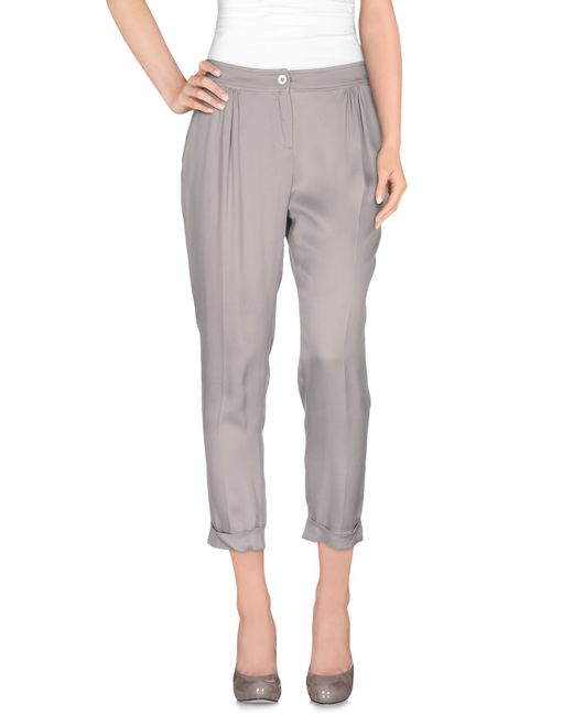 Liu Jo | Gray Casual Pants | Lyst