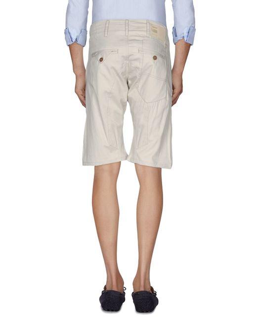 g star raw bermuda shorts in beige for men save 16 lyst. Black Bedroom Furniture Sets. Home Design Ideas