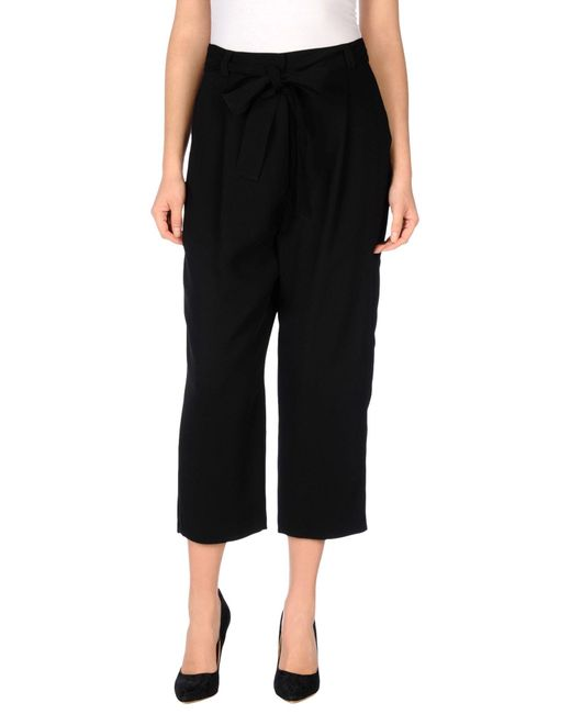 M Missoni | Black 3/4-length Trousers | Lyst