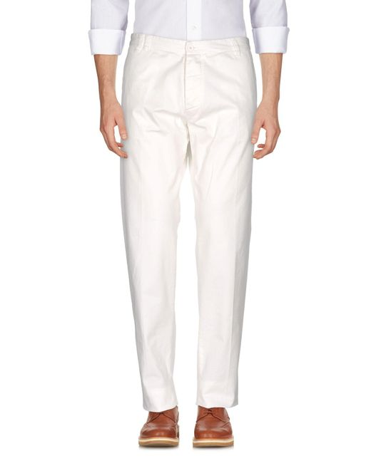 Officina 36 | White Casual Trouser for Men | Lyst