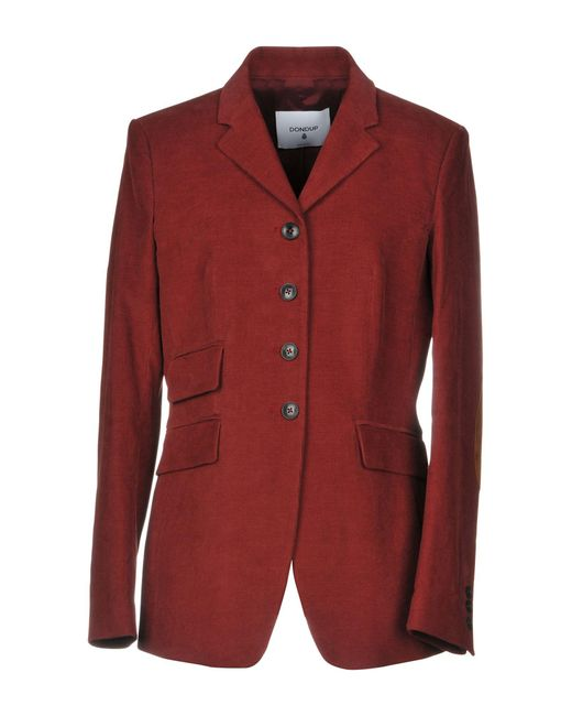 Dondup Red Suit Jacket