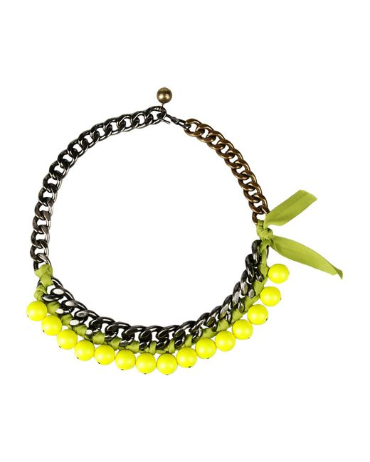 Lanvin - Yellow Necklace - Lyst
