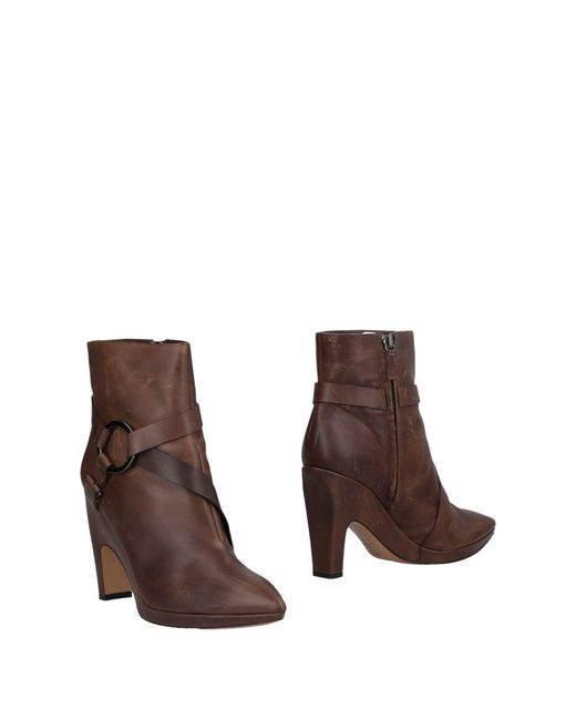Pollini - Brown Ankle Boots - Lyst