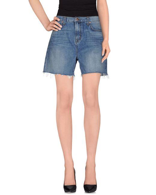 J Brand - Blue Denim Shorts - Lyst