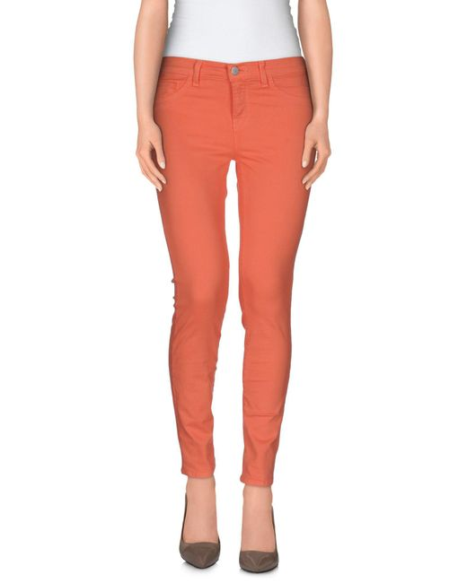 J Brand - Pink Casual Pants - Lyst