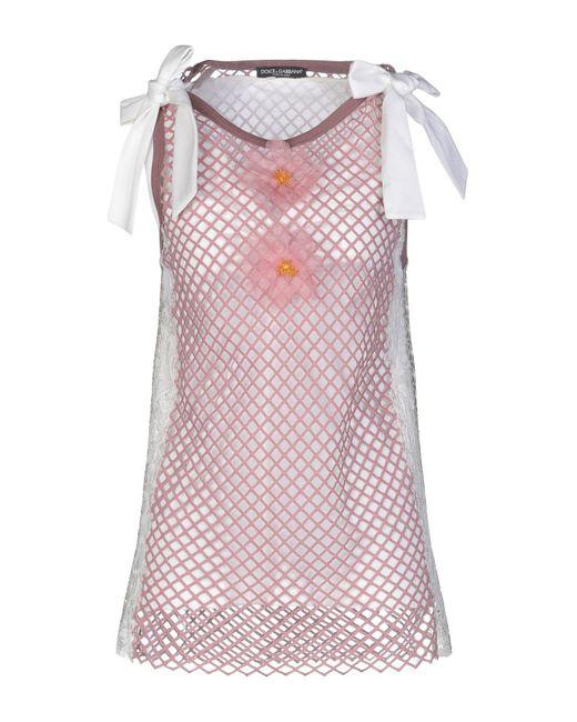 Dolce & Gabbana Top de mujer de color rosa vdjDL