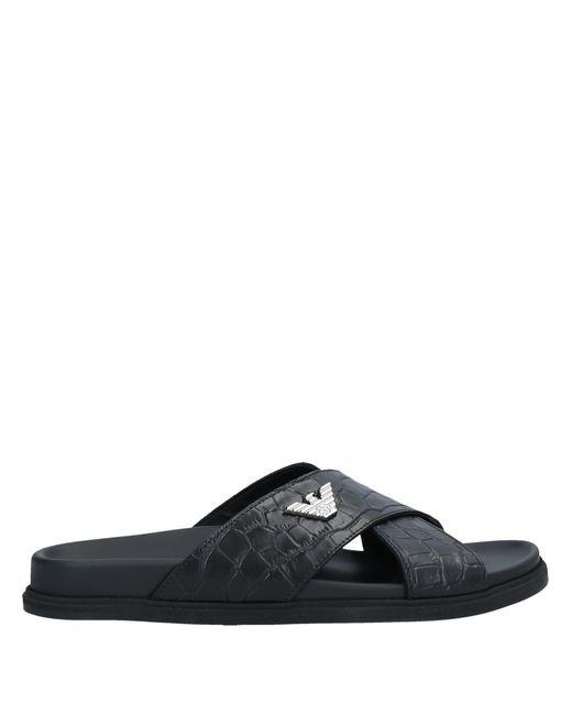 Emporio Armani Black Sandals for men