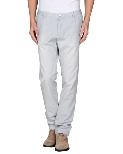 AT.P.CO - Gray Casual Trouser for Men - Lyst