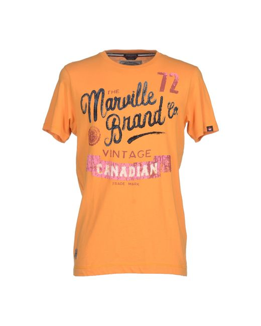 Marville | Orange T-shirt for Men | Lyst