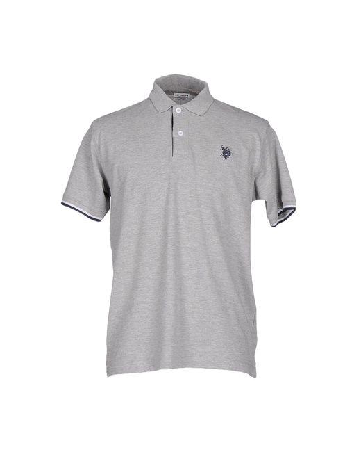 U.S. POLO ASSN. Gray Polo Shirt for men