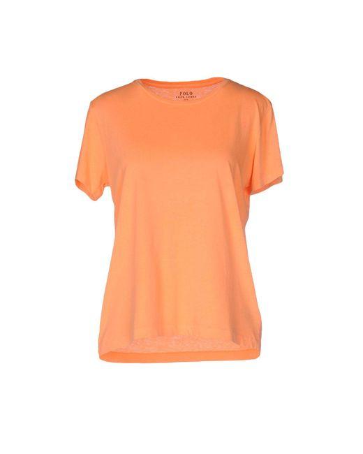 Polo Ralph Lauren | Orange T-shirt | Lyst