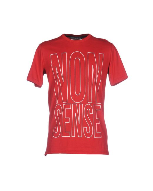 Frankie Morello | Red T-shirt for Men | Lyst