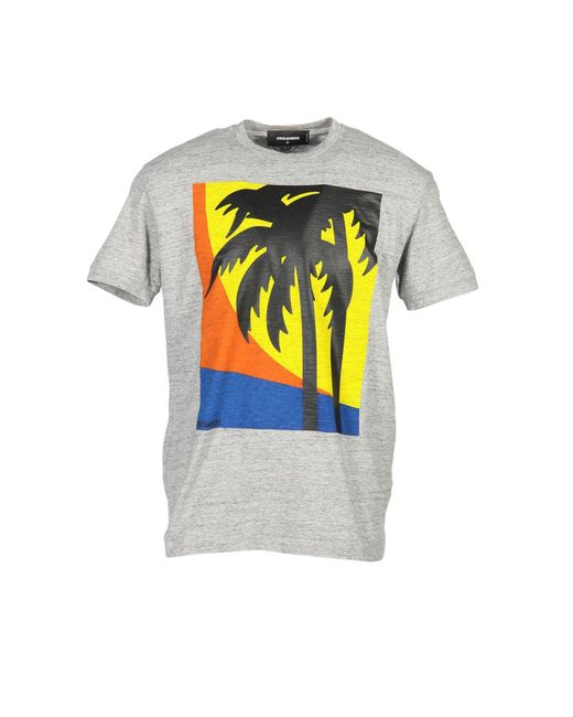 DSquared² | Gray T-shirt for Men | Lyst