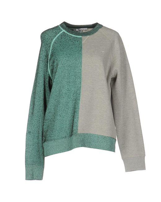 T By Alexander Wang | Gray Sweatshirt | Lyst