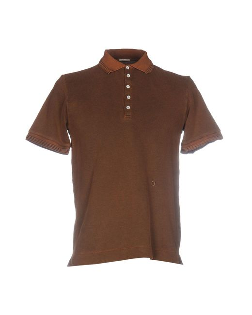 Massimo Alba Polo Shirt In Brown For Men Lyst