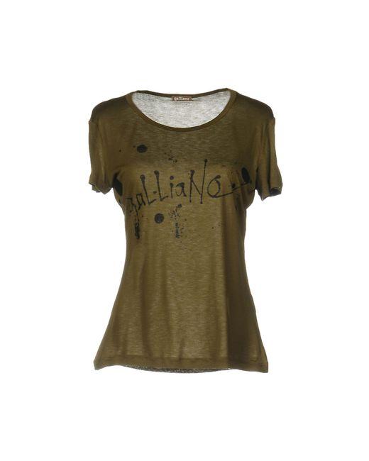 John Galliano | Green T-shirt | Lyst