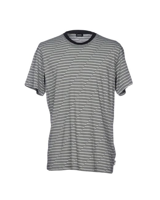 DIESEL - Gray T-shirts for Men - Lyst