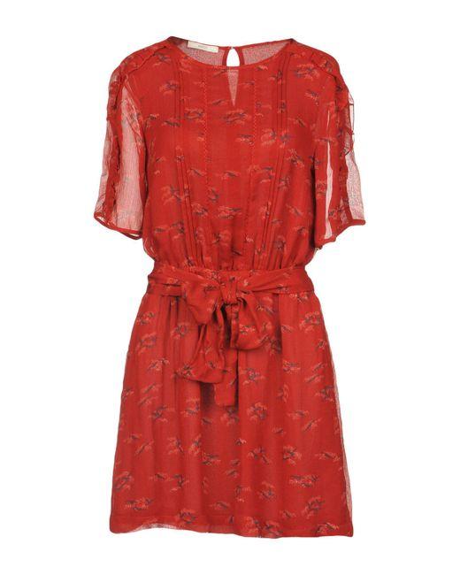 Sessun - Red Short Dress - Lyst