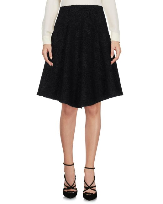 Fabrizio Lenzi | Black Knee Length Skirt | Lyst