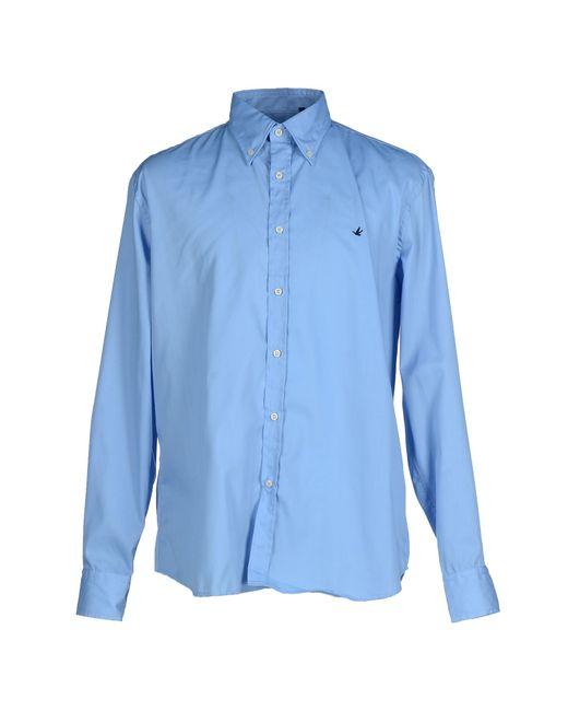 Brooksfield   Blue Shirt for Men   Lyst