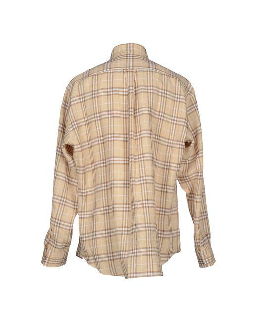 Burberry London Shirt In Beige For Men Lyst