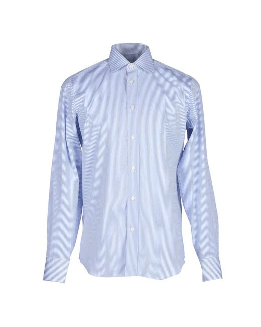 Mauro Grifoni | Blue Shirt for Men | Lyst