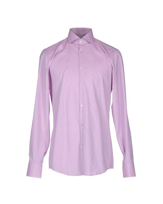 Boss black shirt in purple for men light purple lyst Light purple dress shirt men