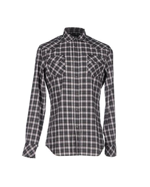 DIESEL   White Checked Shirt for Men   Lyst