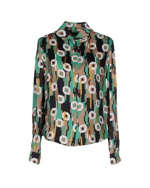 Balenciaga | Green Shirt | Lyst