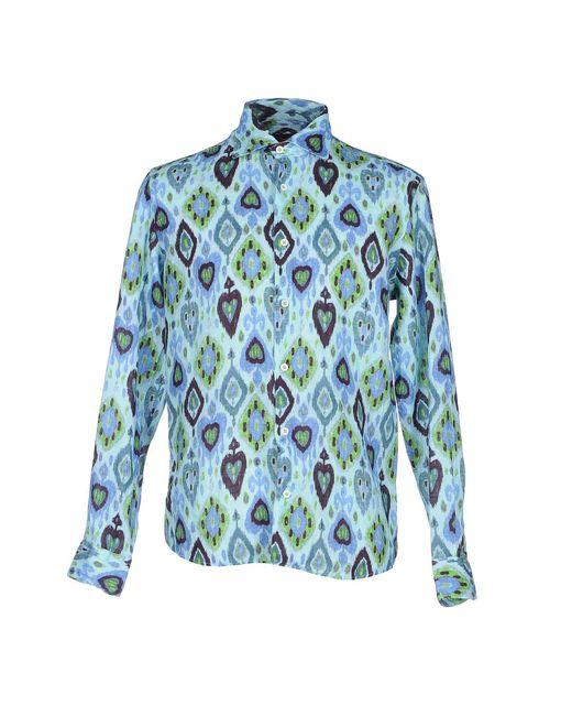 Drumohr   Blue Shirt for Men   Lyst