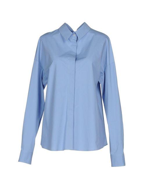 MSGM   Blue Shirt   Lyst