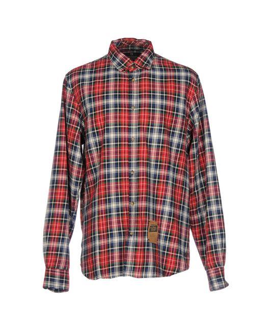 Scotch & Soda | Red Long Sleeve Shirt for Men | Lyst