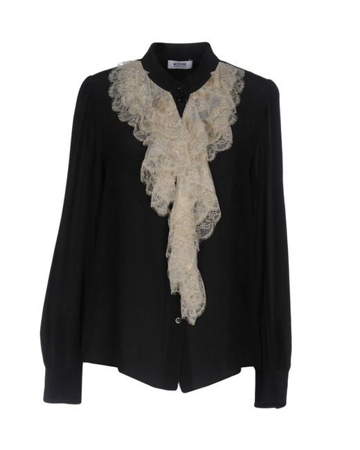 Boutique Moschino   Black Shirt   Lyst