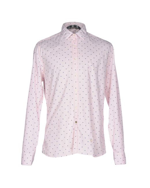 AT.P.CO | Pink Shirt for Men | Lyst