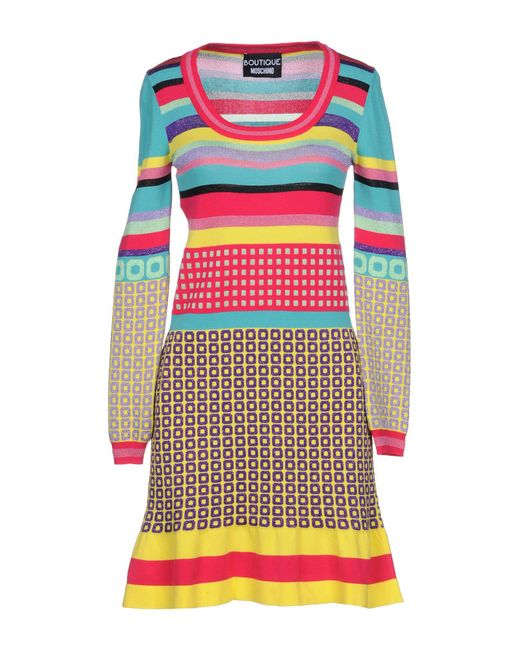 Boutique Moschino - Multicolor Short Dress - Lyst