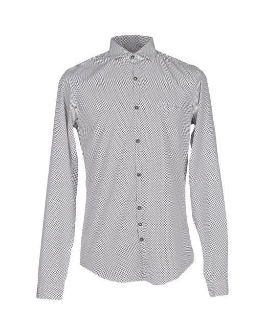 Aglini - Gray Shirts for Men - Lyst