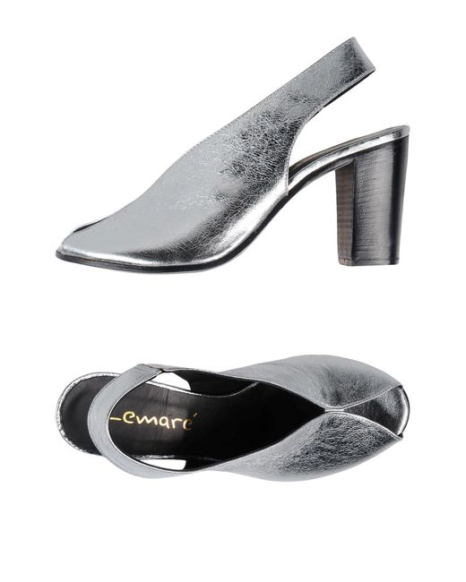 Lemarè - Metallic Sandals - Lyst