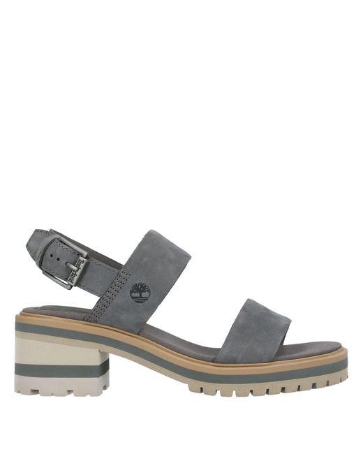 Timberland Gray Sandals A1wjp Violet Dark Grey