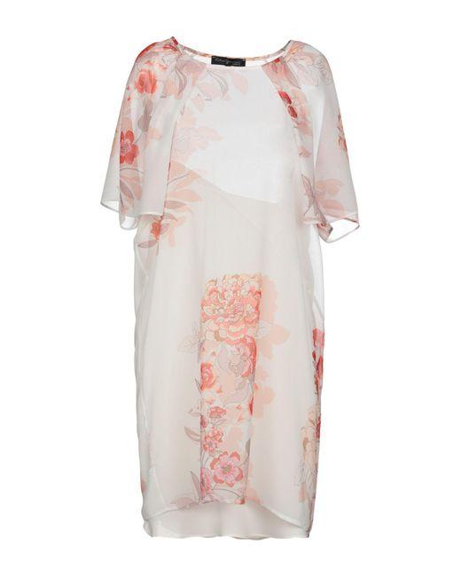 KATIA GIANNINI White Kurzes Kleid