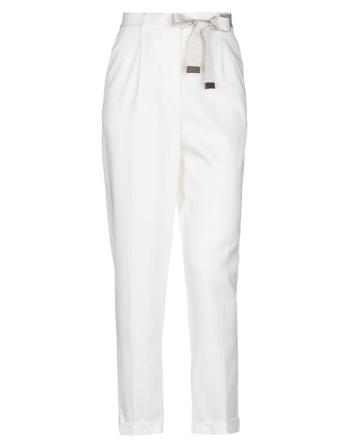 Peserico Pantalones de mujer de color blanco