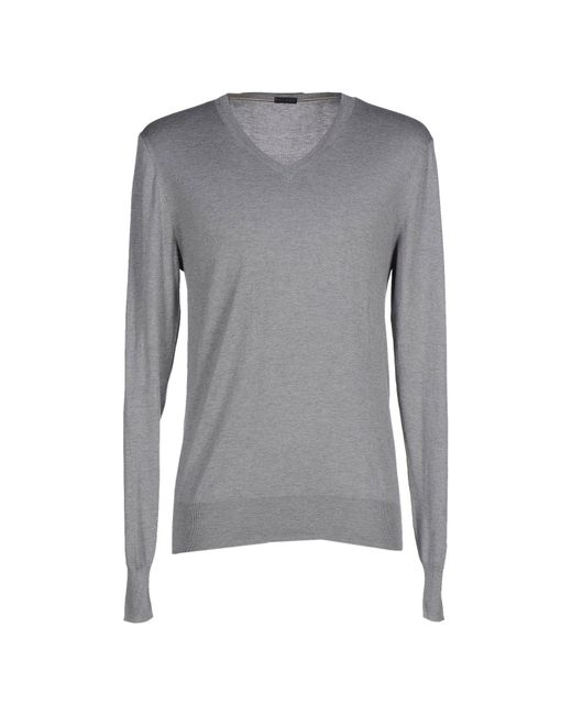 Paolo Pecora | Gray Jumper for Men | Lyst