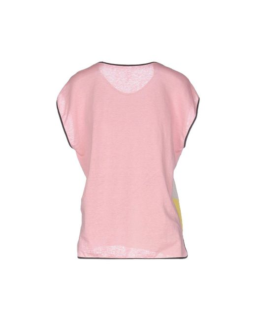 marc cain t shirt in pink lyst. Black Bedroom Furniture Sets. Home Design Ideas