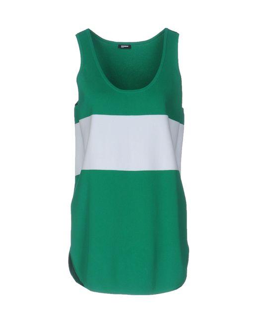 Jil Sander Navy | Green Top | Lyst
