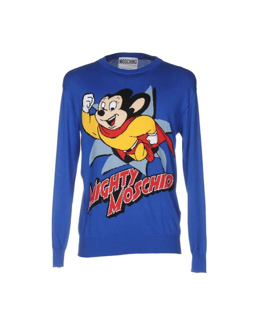 Moschino Couture   Blue Sweater for Men   Lyst