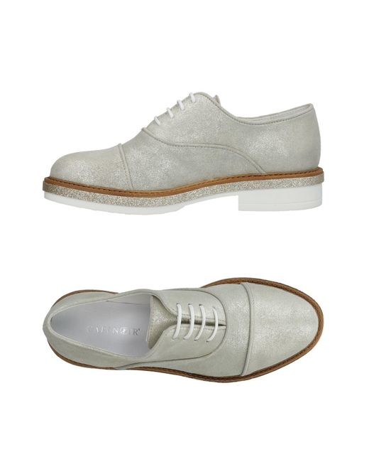 CafeNoir Gray Lace-up Shoe