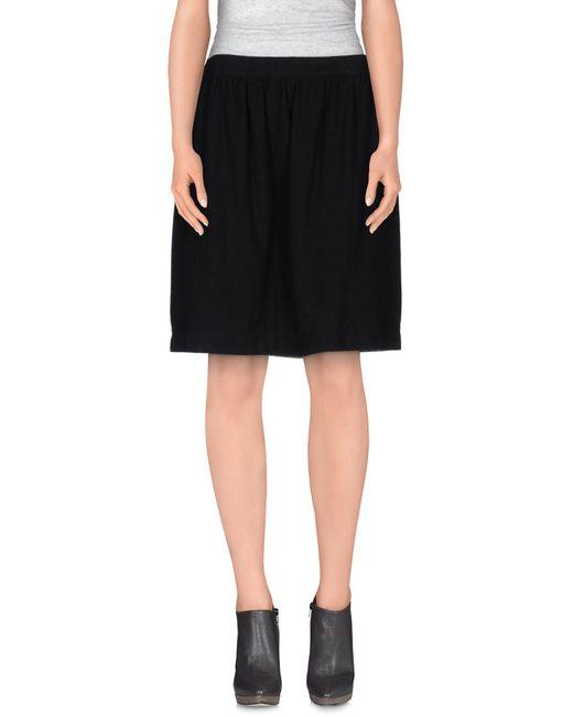 Shirtaporter - Black Knee Length Skirt - Lyst