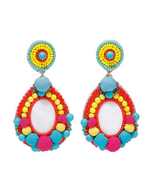 Boucles d'oreilles Ranjana Khan en coloris Multicolor