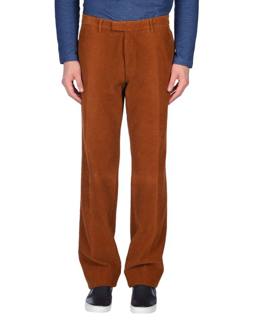 Piombo - Brown Casual Pants for Men - Lyst